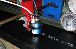 Non-contact printing for rubber marking